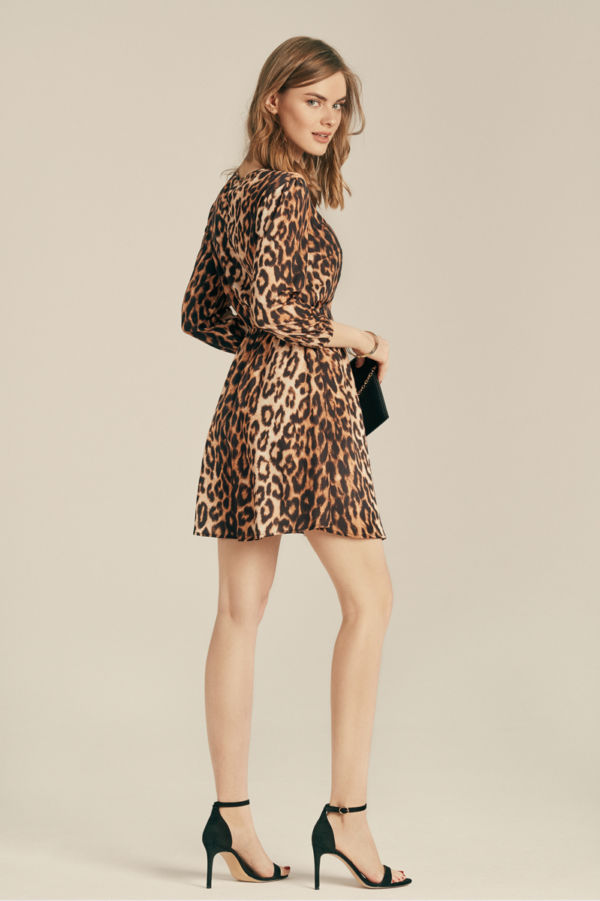 """Sukienka z gładkiego szyfonu """"Leopard"""""""