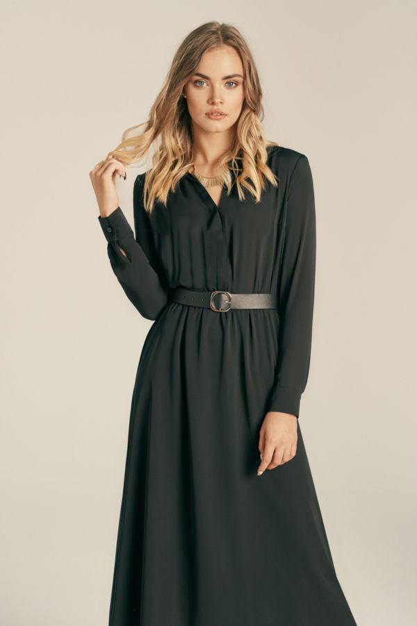 Koszula sukienka z gładkiego szyfonu