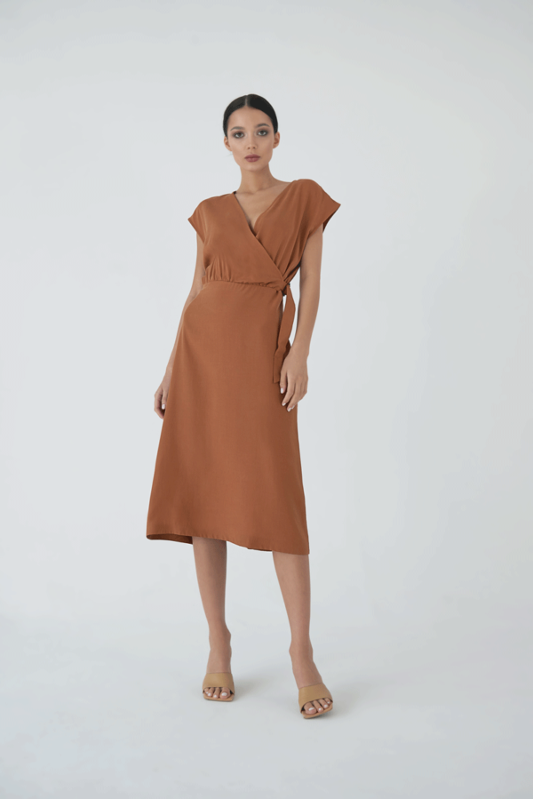 Sukienka Eco Tencel z klamrą
